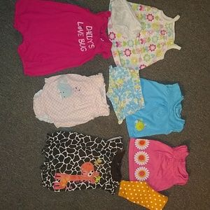 6-Pre-owned baby girls outfits sz 0-3mos